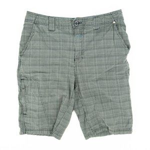 Columbia Chino Shorts Omni-Shade Plaid Gray 30x11